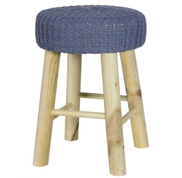 Sitzhocker mit Strickbezug / Größe ca.30cm