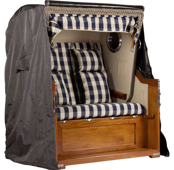 Abdeckhaube für Mahagoni Luxus Strandkorb 2,5-Sitzer ca.142x160x100cm (BxHxT)