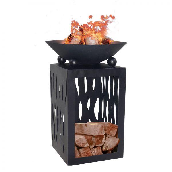 Feuerschale Feuerstelle auf Säule Ø45cm Holzdepot