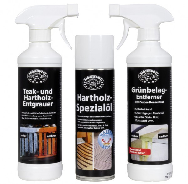 Hotrega Garten Möbel Pflege- Reinigungsmittel 3tlg