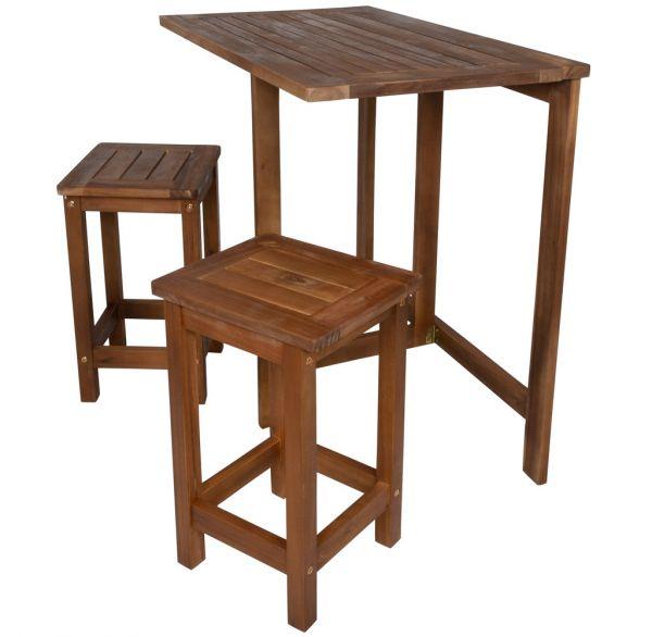 Balkonmöbel-Set 3-teilig Akazienholz