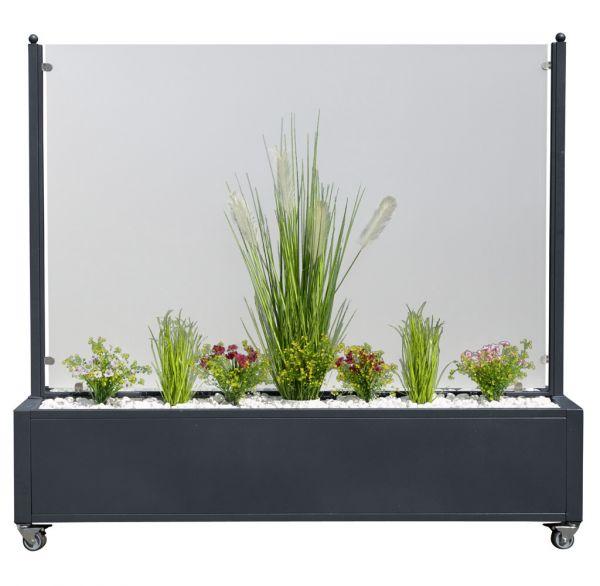 Mobiler Windschutz mit Pflanzkasten in 3 Größen lieferbar
